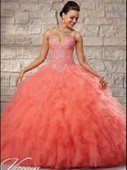 Vizcaya Quinceañera 89027 Embroidered Bodice Ball Gown