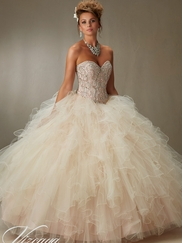 Vizcaya Quinceañera 89068 Removable Coverlet Ball Gown