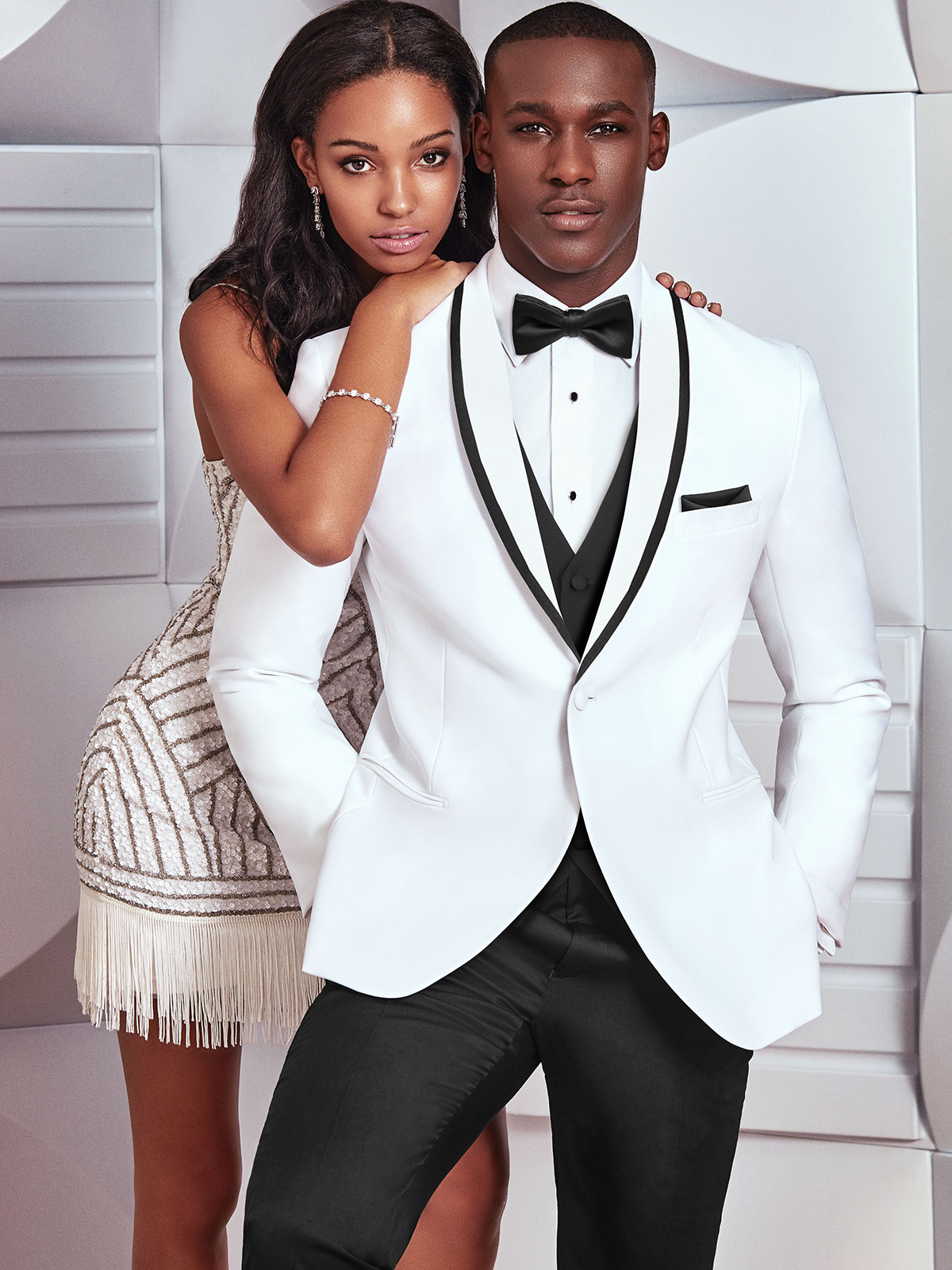 White Prom Tuxedo Waverly|DimitraDesigns.com