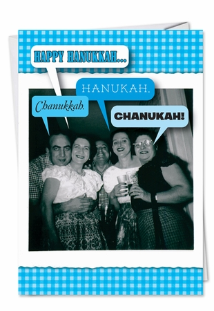 Hilarious Hanukkah Card From NobleWorksInc.com - 4 Out of 5 Jews