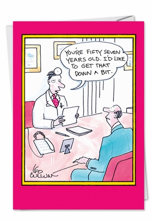 Hysterical Birthday Card From NobleWorksInc.com - 57 Years