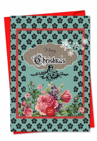 Beautiful Christmas Card From NobleWorksInc.com - A Rosy Christmas