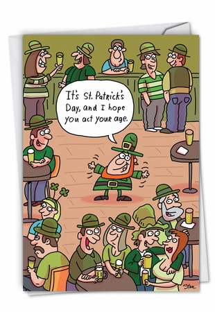 Hilarious St. Patrick's Day Card From NobleWorksInc.com - Act Your Age