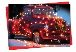 Artful Christmas Card From NobleWorksInc.com - All Trucked Up
