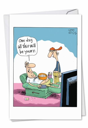 Humorous Father's Day Card From NobleWorksInc.com - All Will Be Yours