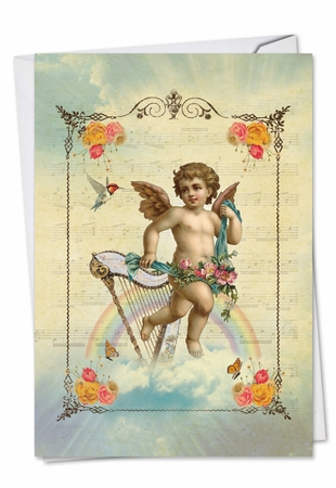 Beautiful Valentine's Day Card From NobleWorksInc.com - Angelic Notes