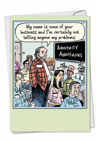 Hilarious Birthday Card From NobleWorksInc.com - Anonymity Anonymous