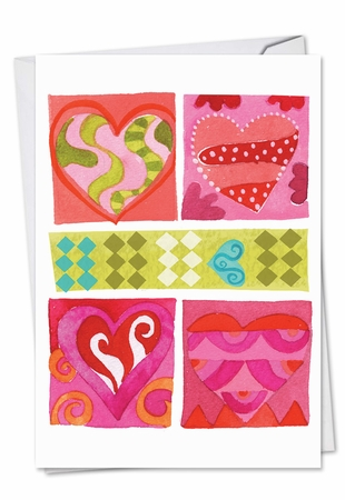 Artful Valentine's Day Card From NobleWorksInc.com - Art Hearts