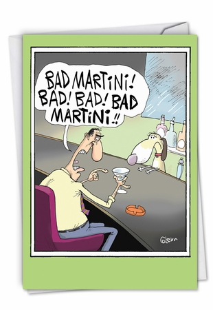 Hilarious Birthday Card From NobleWorksInc.com - Bad Martini