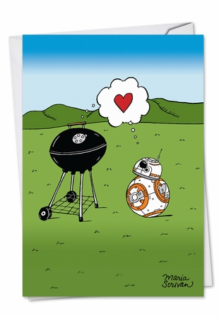Hilarious Valentine's Day Card From NobleWorksInc.com - BBQ Love