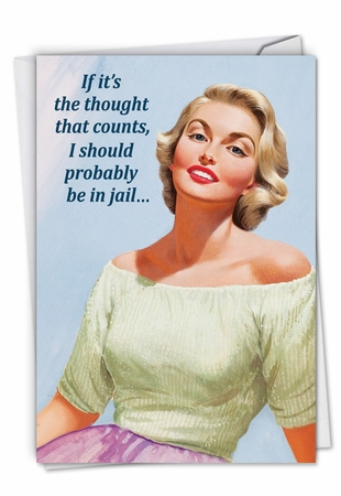 Humorous Valentine's Day Card From NobleWorksInc.com - Be in Jail