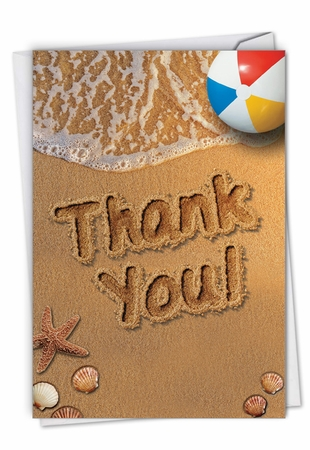 Stylish Thank You Card From NobleWorksInc.com - Beach Notes
