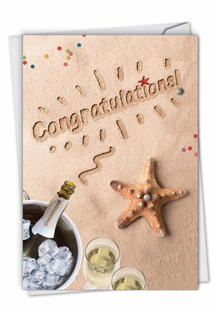 Creative Congratulations Card From NobleWorksInc.com - Beach Notes