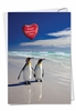 Funny Valentine's Day Card From NobleWorksInc.com - Beach Penguins