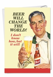 Beer Change Fathers Day Funny Card