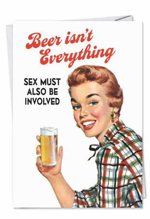 Hilarious Valentine's Day Card From NobleWorksInc.com - Beer Isnt Everything