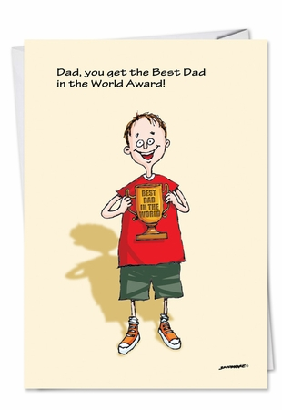 Funny Father's Day Card From NobleWorksInc.com - Best Dad