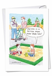 Better Dad Funny Father's Day Card by NobleWorks and Nick Downes