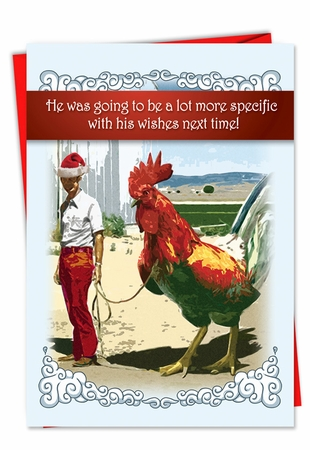 Hysterical Christmas Card From NobleWorksInc.com - Big Cock