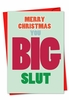 Hilarious Blank Christmas Card From NobleWorksInc.com - Big Slut