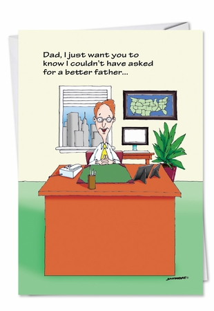 Humorous Father's Day Card From NobleWorksInc.com - Bill Gates