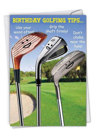 Hysterical Birthday Card From NobleWorksInc.com - Birthday Golfing Tips