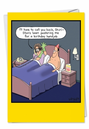 Humorous Birthday Card From NobleWorksInc.com - Hand job
