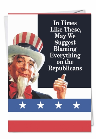 Funny Birthday Card From NobleWorksInc.com - Blame Republicans