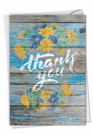Creative Thank You Card From NobleWorksInc.com - Blooming Driftwood