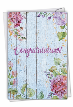 Stylish Congratulations Card From NobleWorksInc.com - Blooming Driftwood