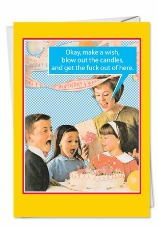 Funny Birthday Card From NobleWorksInc.com - Blow Out