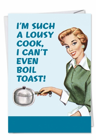 Funny Birthday Card From NobleWorksInc.com - Boil Toast