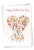 Artistic Valentine's Day Card From NobleWorksInc.com - Bunny Love