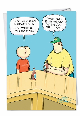 Humorous Birthday Card From NobleWorksInc.com - Butthead Opinion