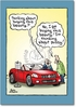 Cadillac Toons naughty Birthday Funny Card