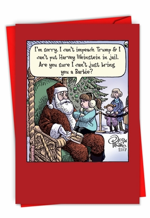 Hysterical Merry Christmas Card From NobleWorksInc.com - Can't Impeach Trump