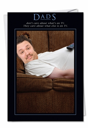 Hysterical Birthday Father Card From NobleWorksInc.com - Carefree Couch Potato