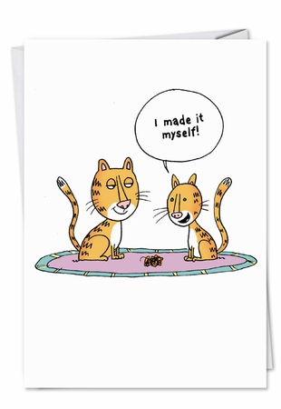 Humorous Birthday Mother Card From NobleWorksInc.com - Cat Barf