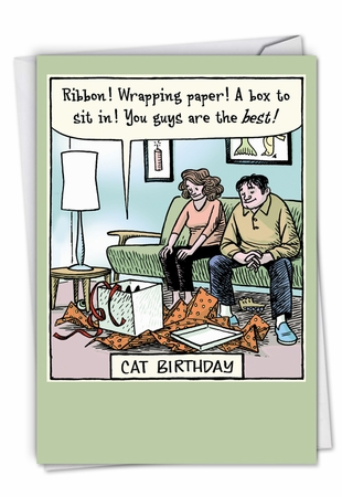 Funny Birthday Card From NobleWorksInc.com - Cat Birthday