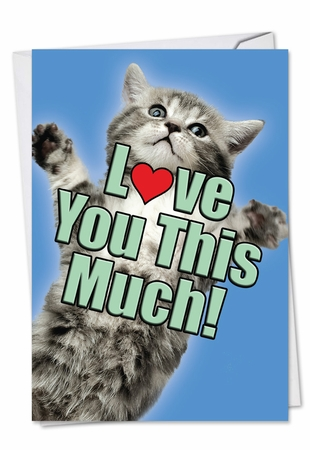 Artful Anniversary Card From NobleWorksInc.com - Cat Love You This Much