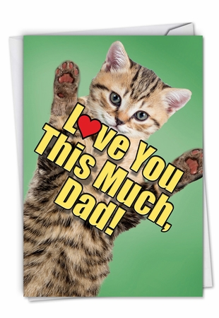Creative Birthday Father Card From NobleWorksInc.com - Cat Love You This Much
