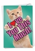 Beautiful Mother's Day Card From NobleWorksInc.com - Cat Love You This Much