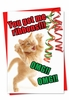 Funny Blank Christmas Card From NobleWorksInc.com - Cat Ribbons