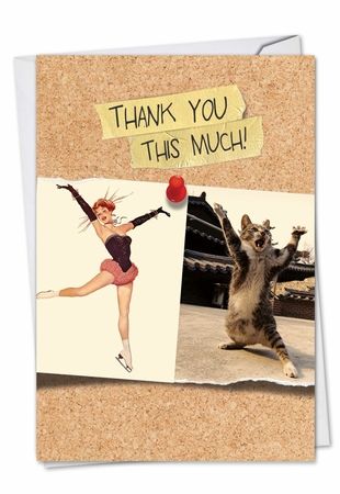 Artful Blank Thank You Card From NobleWorksInc.com - Cats and Chicks