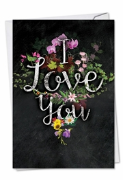 Chalk And Roses Valentine's Day Valentine's Day Card by NobleWorks