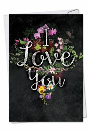 Artful Valentine's Day Card From NobleWorksInc.com - Chalk And Roses