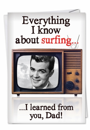 Funny Birthday Father Card From NobleWorksInc.com - Channel Surfing