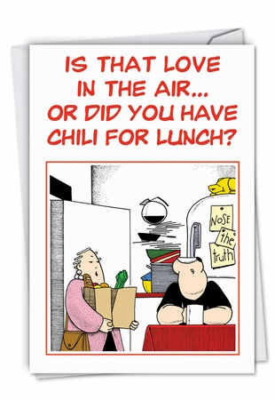 Hilarious Valentine's Day Card From NobleWorksInc.com - Chili for Lunch