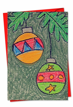 Artful Christmas Card From NobleWorksInc.com - Coloring