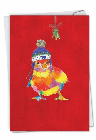 Beautiful Merry Christmas Card From NobleWorksInc.com - Funny Farm - Chick